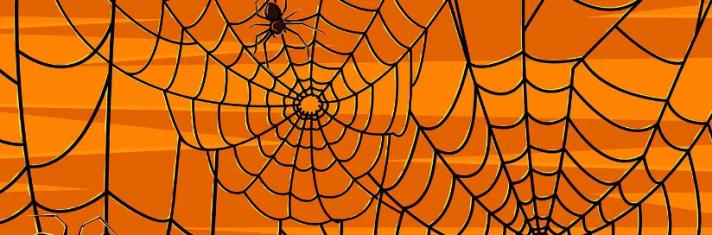 Декоративная паутина на Хэллоуин